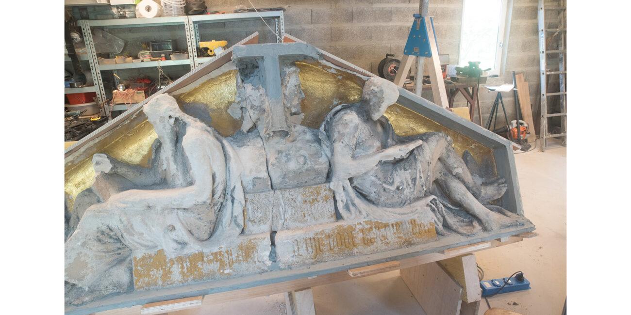 reconstructie-rijksmuseum-T relief oud